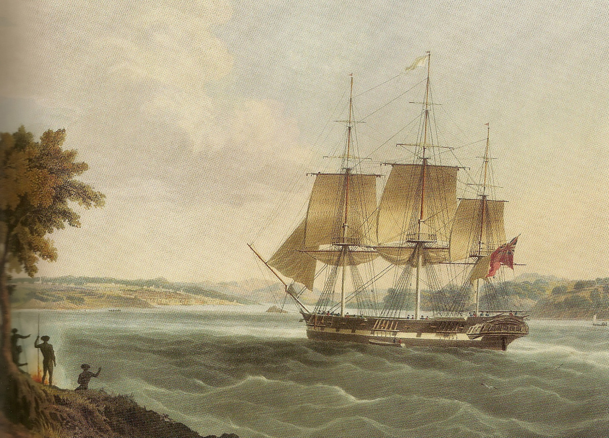 A similar ship, the Mellish, entering Sydney Harbour Bay