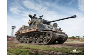 The Sherman tank, Fury, running at Tiger Day