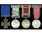 Victoria Cross and a Crimean War medal with two clasps