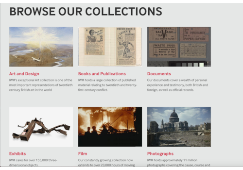 Browse the IWM collections online