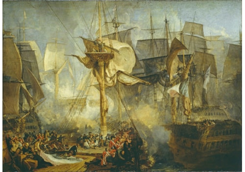 JMW Turner - The Battle of Trafalgar, as Seen from the Mizen Starboard Shrouds of the Victory 1806–8