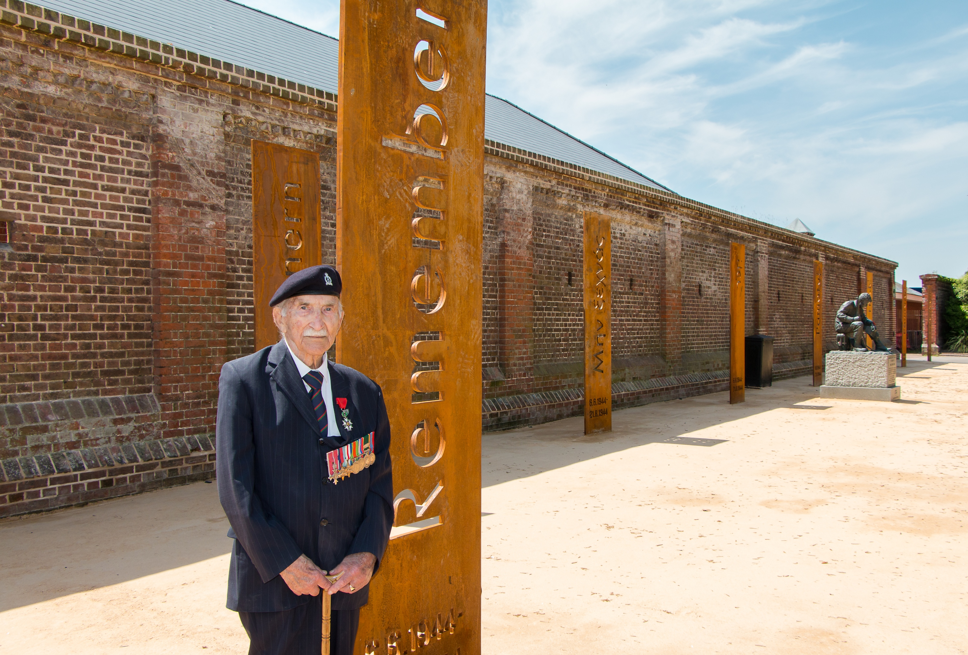 John Jenkins at the Normandy Memorial Wall