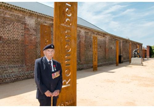 John Jenkins at the Normandy Memorial Wall