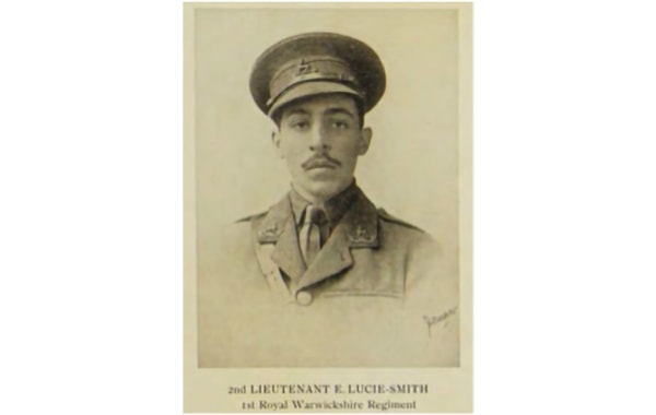 Lt Lucie-Smith was killed in the 2nd Battle of Ypres