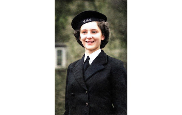 Margaret Kelly in her Wrens uniform in WWII