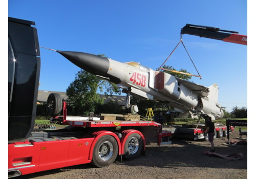 MiG Cold War fighters being taken off site