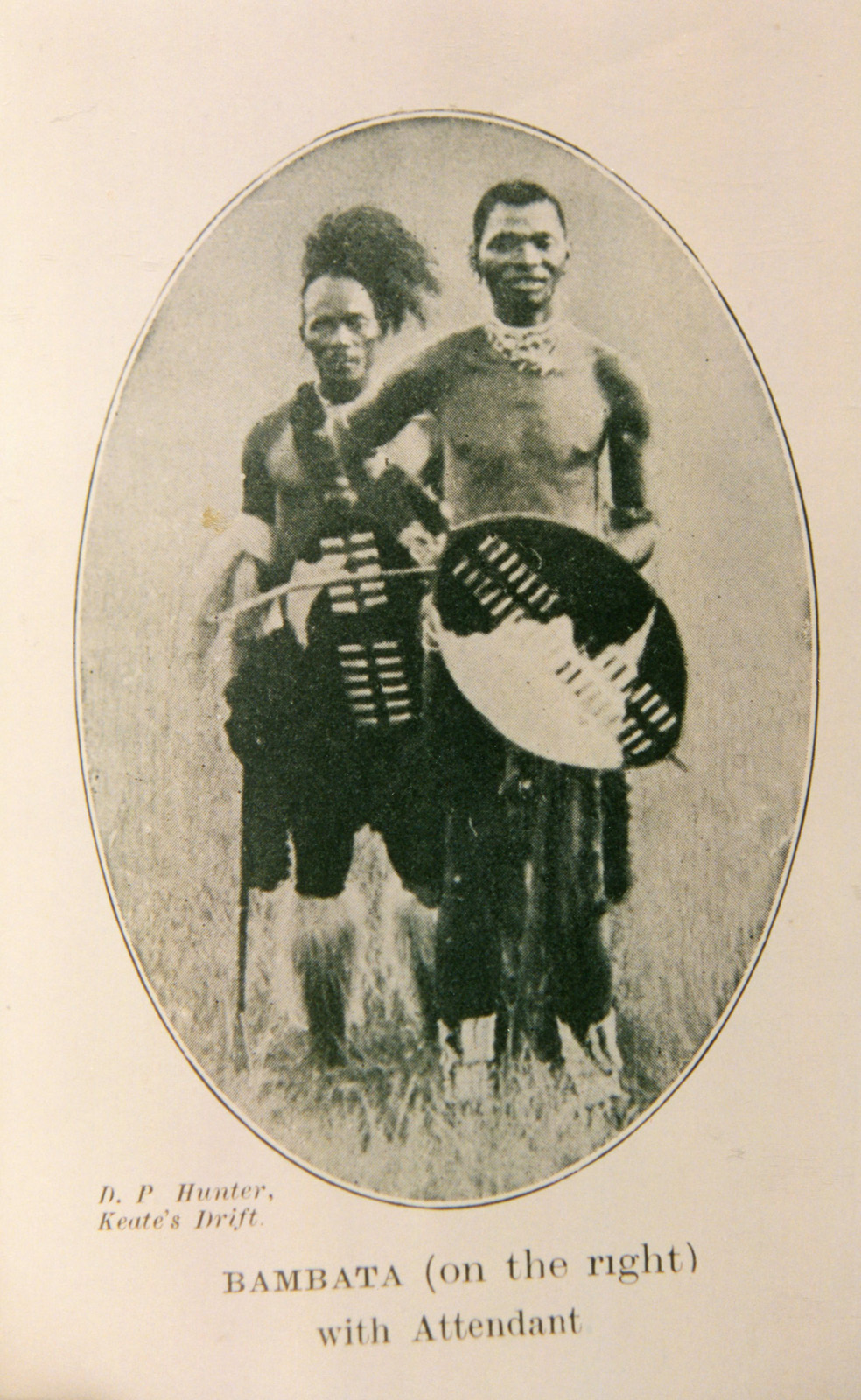 The rebel chief, Bambatha kaMancinza. Bambatha and his people were historically citizens of colonial Natal rather than the old Zulu kingdom but Bambatha deliberately tried to draw on the mystique and prestige of the old Zulu kings