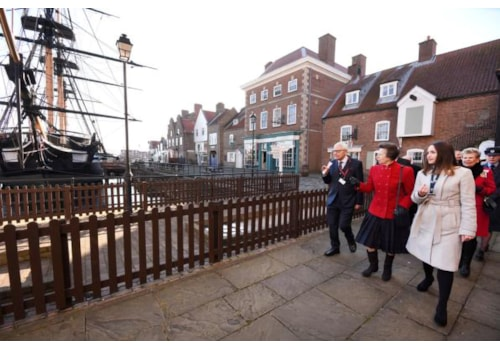 Princess Anne visiting the Royal Navy Museum at Hartlepool