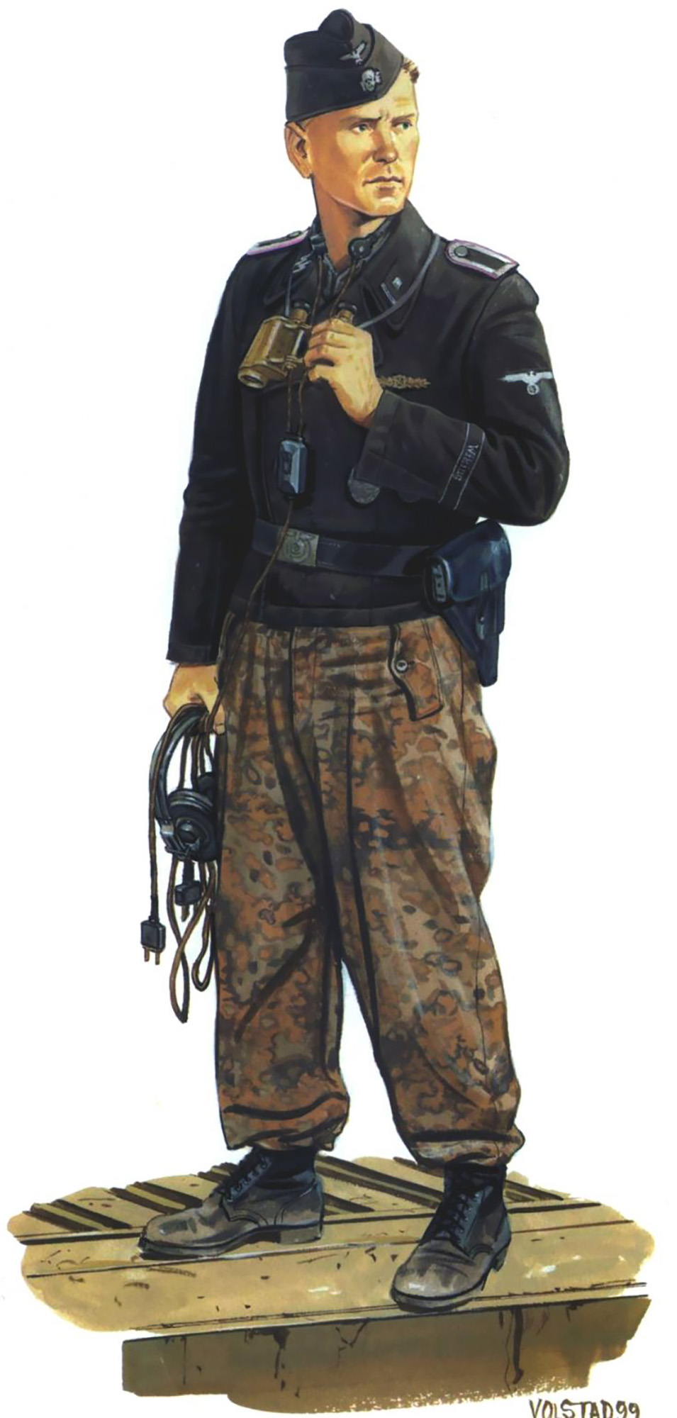 Typical outfit of the Panzer crews