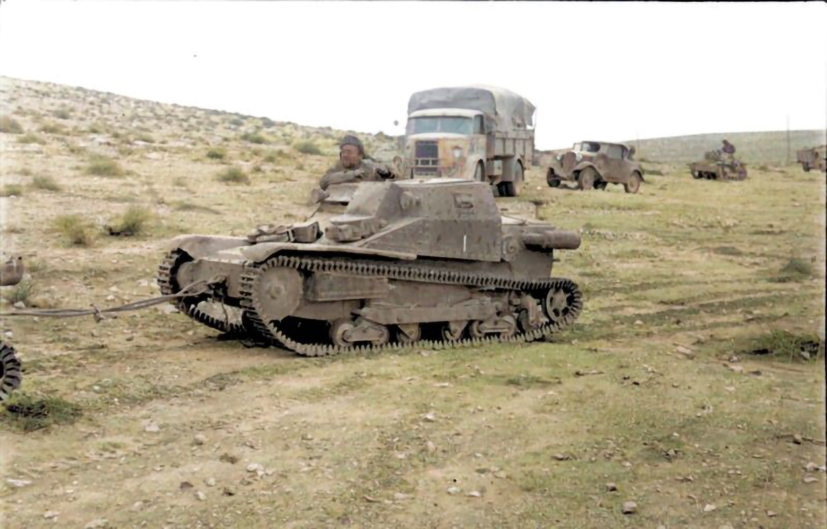 An example of an L3 tankette, half a dozen of which opposed the raiders at Barce