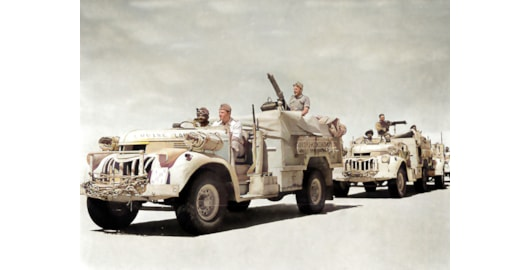 The most popular lorry in service with the LRDG was the 30cwt Chevrolet