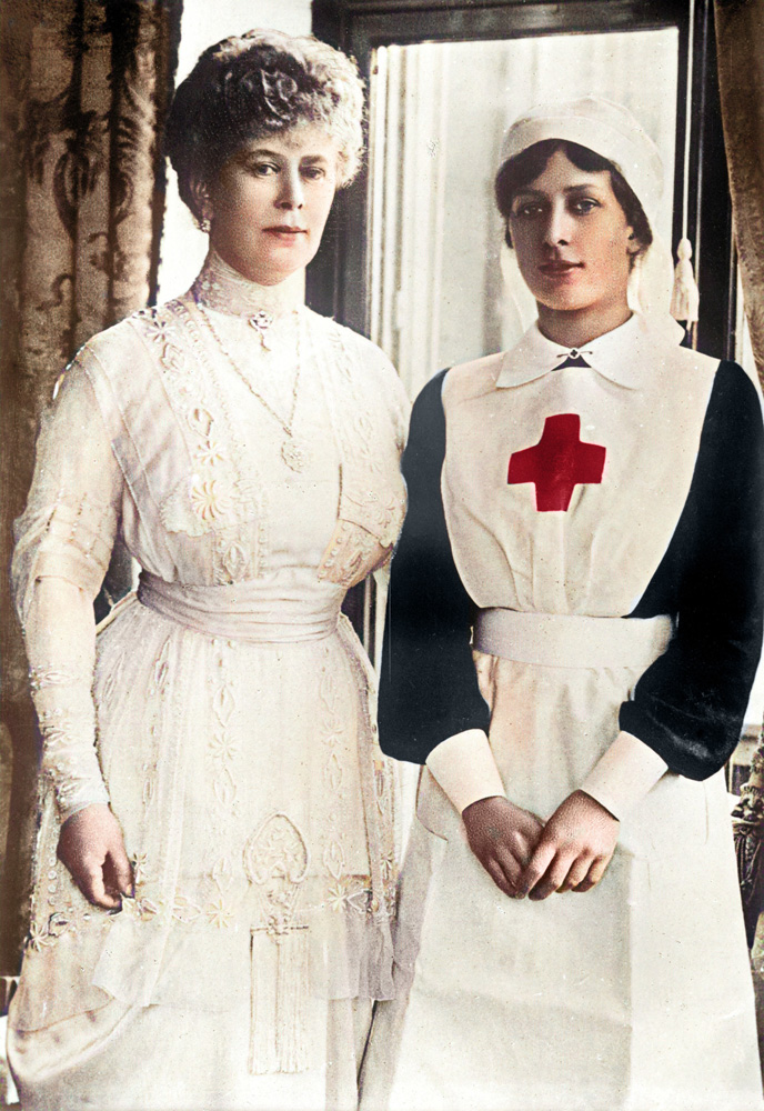 Queen Mary of Teck and her daughter, Princess Mary (the current Queen's aunt) who was an enthusiastic supporter of the VAD