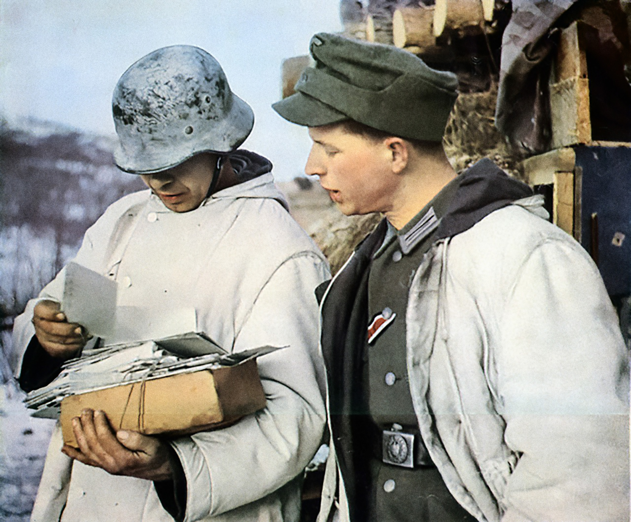 A Feldpost delivery on the Russian front
