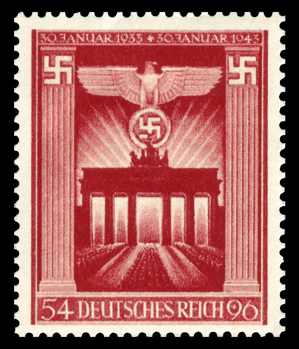 A pre-1944 semipostal Brandenburg commemorative, face value 54pf, with a surcharge of 96pf