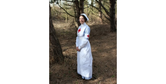Tessa Soetens of misshendrie.blogspot.co.uk, a member of Tommy's Sisters re-enactment group portraying QAIMNS nurses and VADs in WWI