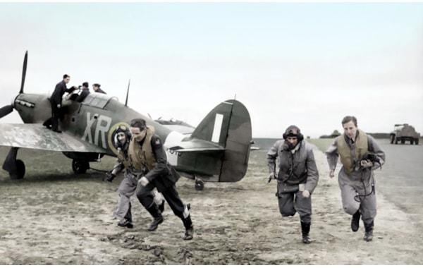 Battle of Britian pilots scramble