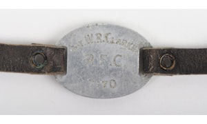 Close up of Sgt Clarke's RFC ID bracelet