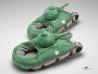 Keep your feet warm with Sherman tank slippers