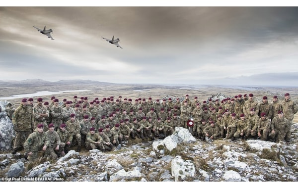 Soldiers from the 3rd Battalion, Parachute Regiment