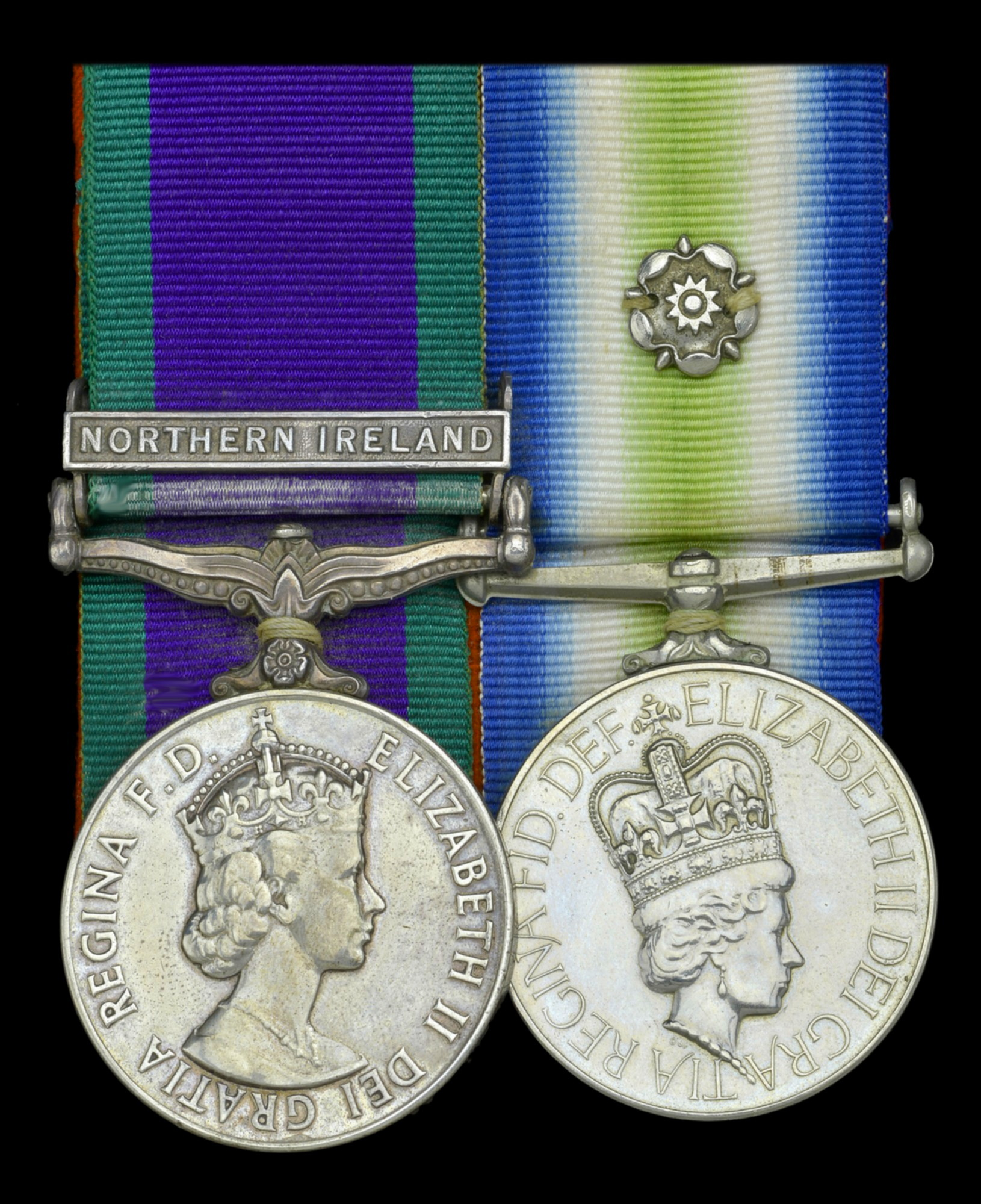The South Atlantic medal with the campaign medal for Northern Ireland - a frequently seen combination