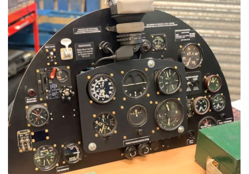 The control panel for the Spitfire simulator