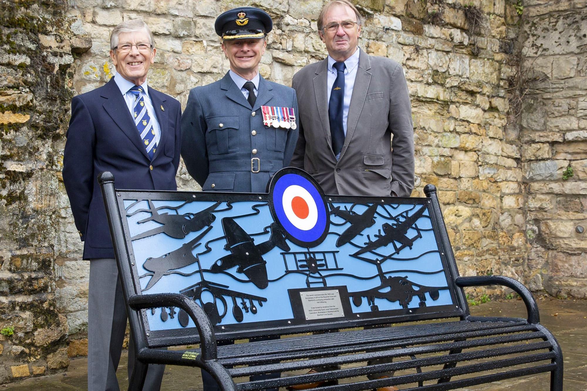 New commemorative bench in Stamford