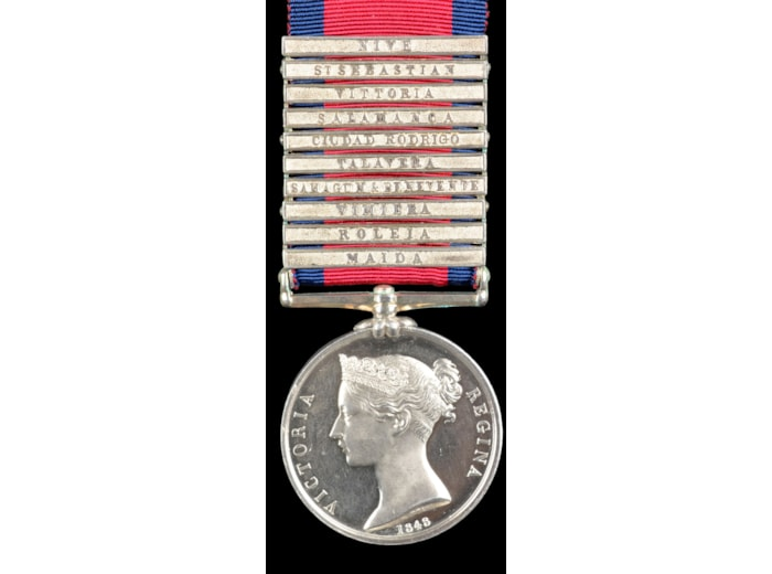 The unique 10 clasp Military General Service Medal to Private Thomas Dolphin, Artillery Drivers