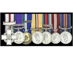 The medals up for auction including the Conspicuous Gallantry Cross