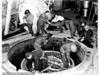 US troops dismantle the reactor (Library of Congress)