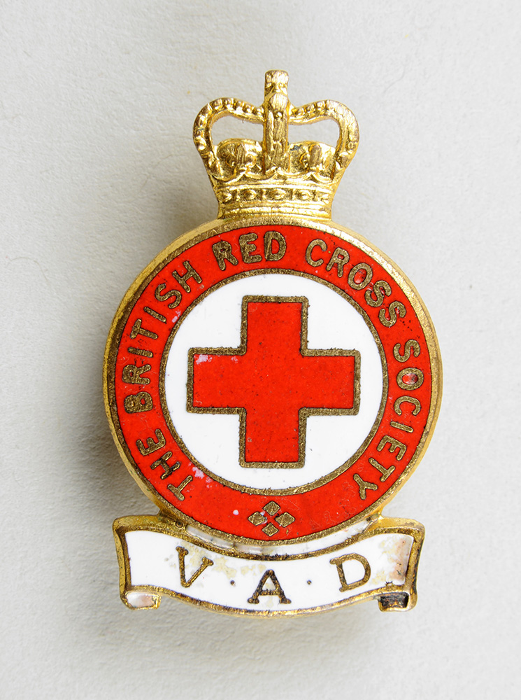 Red Cross badge issued to VAD members