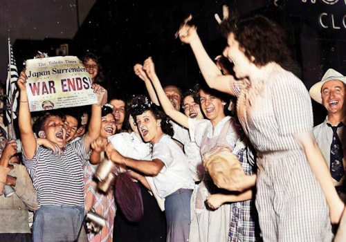 VJ Day as Japan surrenders and WWII is over