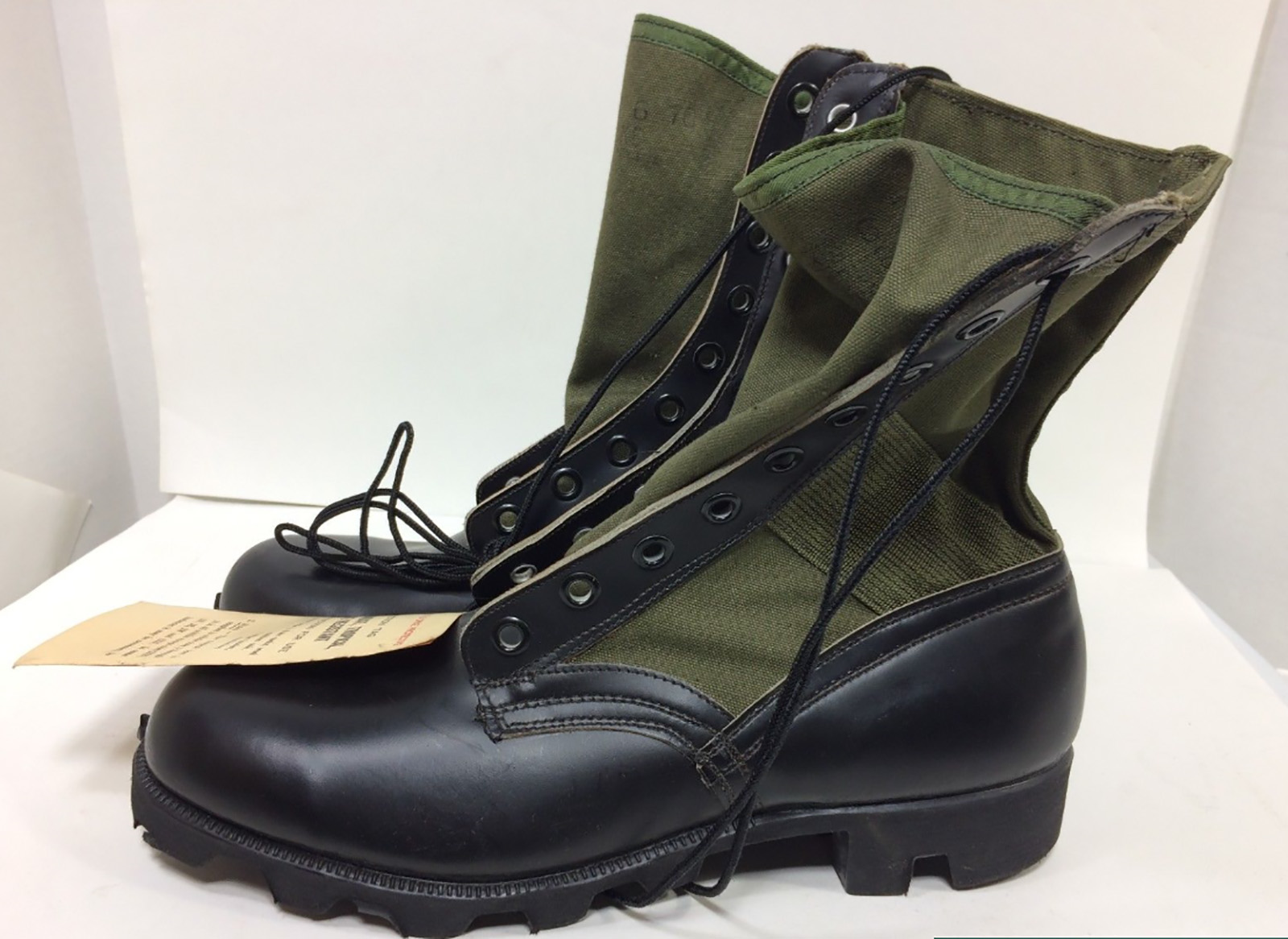 There were many versions of jungle boots, but the final version came with a shank in the sole to prevent injury from Pungi stakes