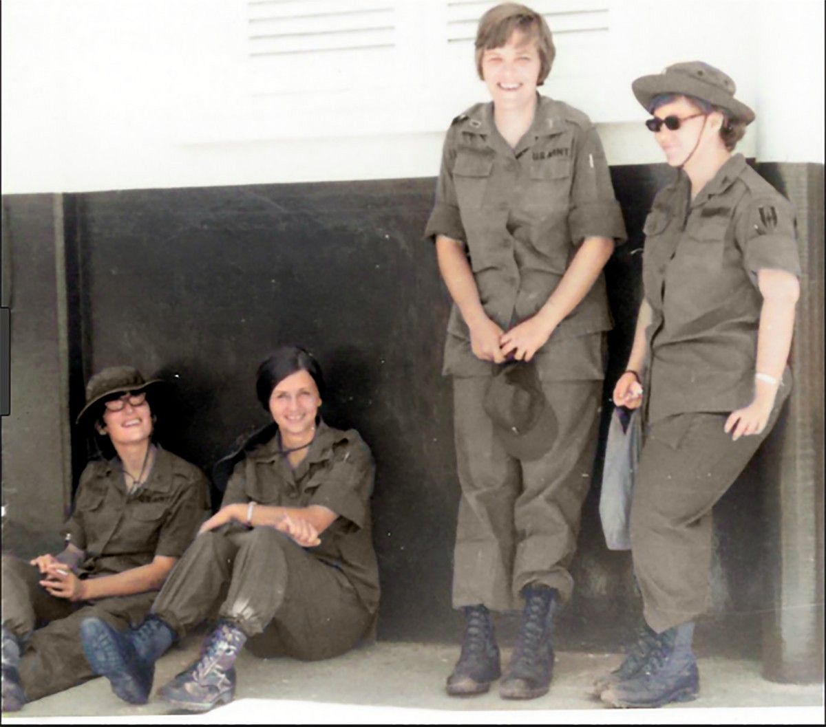 Nurses wore the same jungle fatigues as did the soldiers