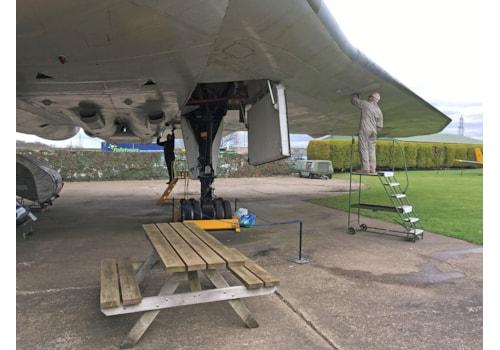 Vulcan XM594 underwing restoration