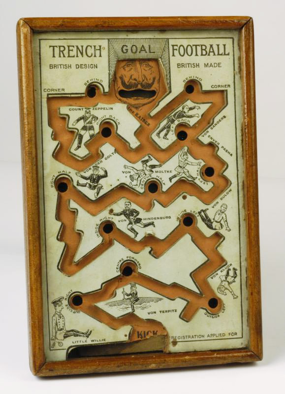 Bagatelle trench warfare game