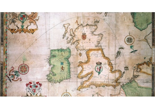 The route of the Spanish Armada around Britain