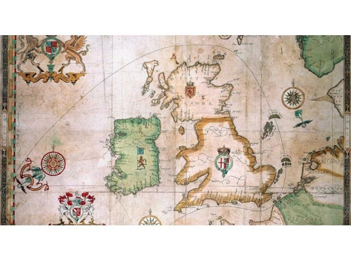 The route of the Spanish Armada around Britain