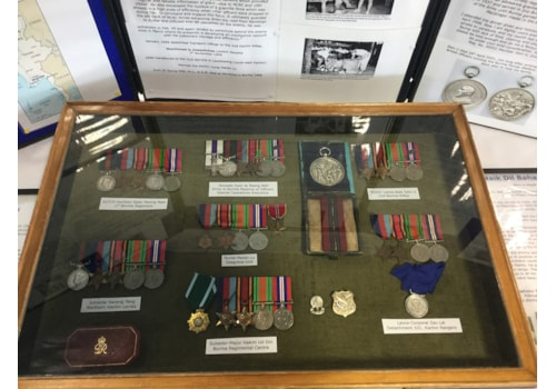 These are the medals that were on display and have been stolen