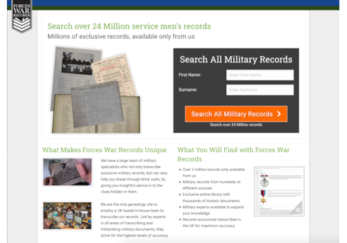 New rolls at Forces War Records