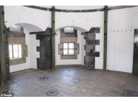 Inside the gun tower