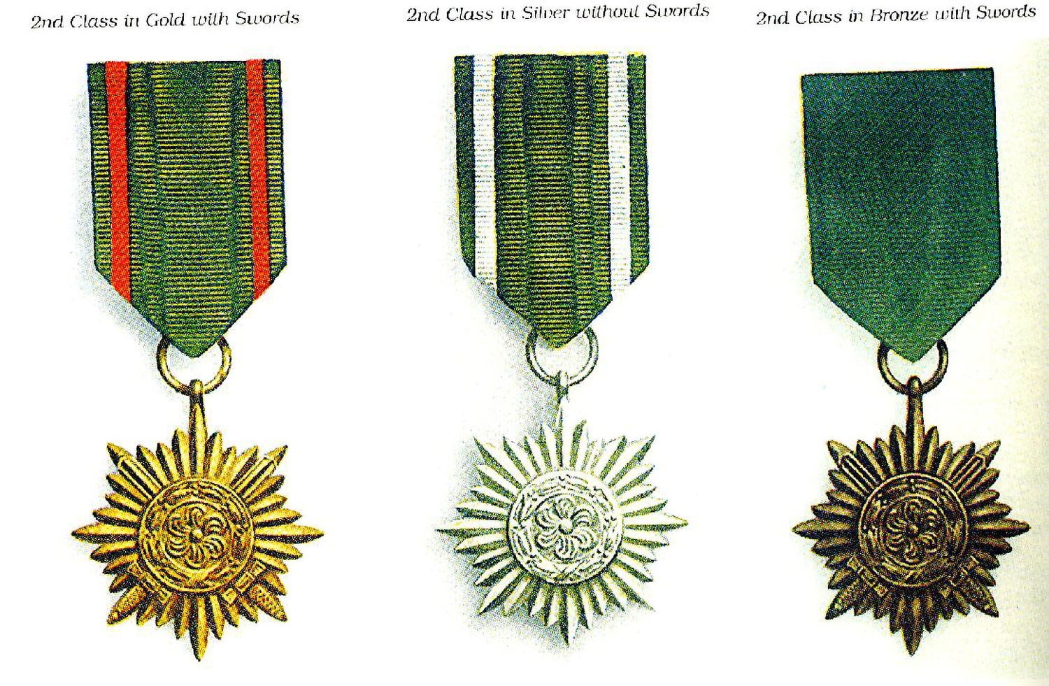 The three 2nd Class awards
