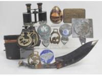 Kukri and brass items
