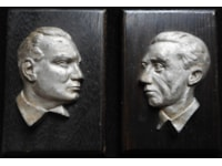 Relief wall plaques of Georing and Goebbels
