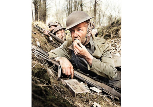 Soldier eating the unpalatable rations