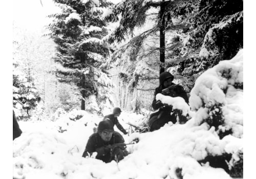 American soliders in Ardennes during the Battle of the Bulge