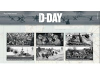 Six collectable stamps for D-Day