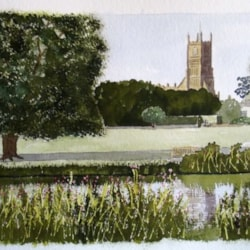cirencester church and meadow