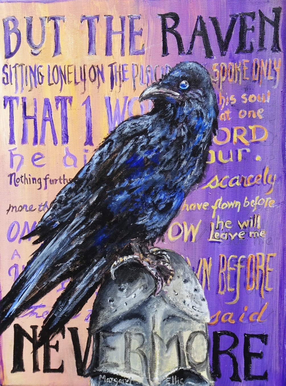 """Quoth the Raven, """"Nevermore""""."""