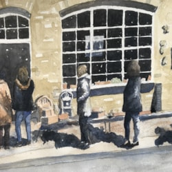 Today's Figure Painting - Rye Window Shopping