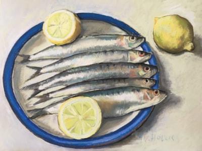 Sardines on a Denby plate